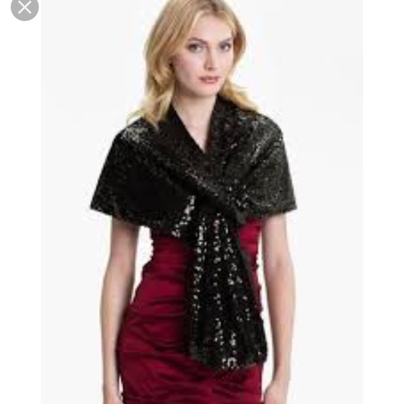 Adrianna Papell Accessories - NWT Adrianna Papell  sequined charmeuse wrap